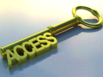 Closeup of key with word access on it